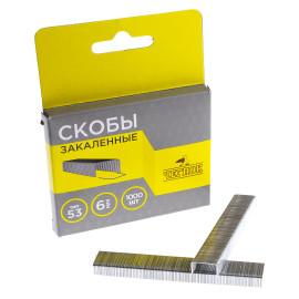 Скобы тип 53  6 мм Закаленные, ЧЕГЛОК (200)..