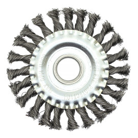 Кордщетка для УШМ радиальная витая, 125 x 22 мм, Ч..