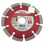 Диск алмазный сегмент STRONG MATERIALS 125х10х22,23 мм, MATUR (50/100)